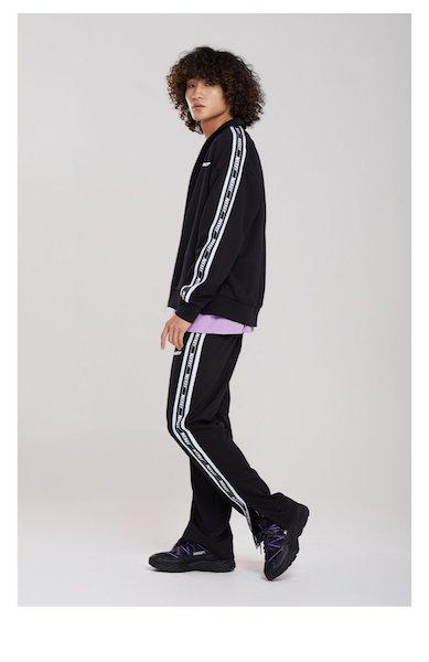 SixTONES田中樹の私服NERDY BIG N Tape Track Top Black, Pants