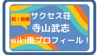 サクセス荘ヒッピ寺山武志結婚!年齢や代表作は?wiki風プロフィール!