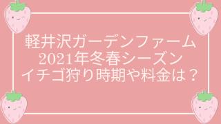 軽井沢ガーデンファーム2021冬春イチゴ狩りはいつからいつまで?