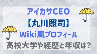 アイカサ【丸川照司】は若い起業家!wiki風プロフで出身大学や経歴と年収を紹介