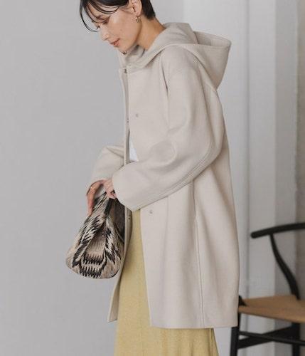 【ウチカレ】第3話菅野美穂の白フードコートはどこのブランド?
